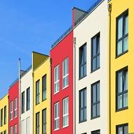 Haus mit Fassadenbeschichtung