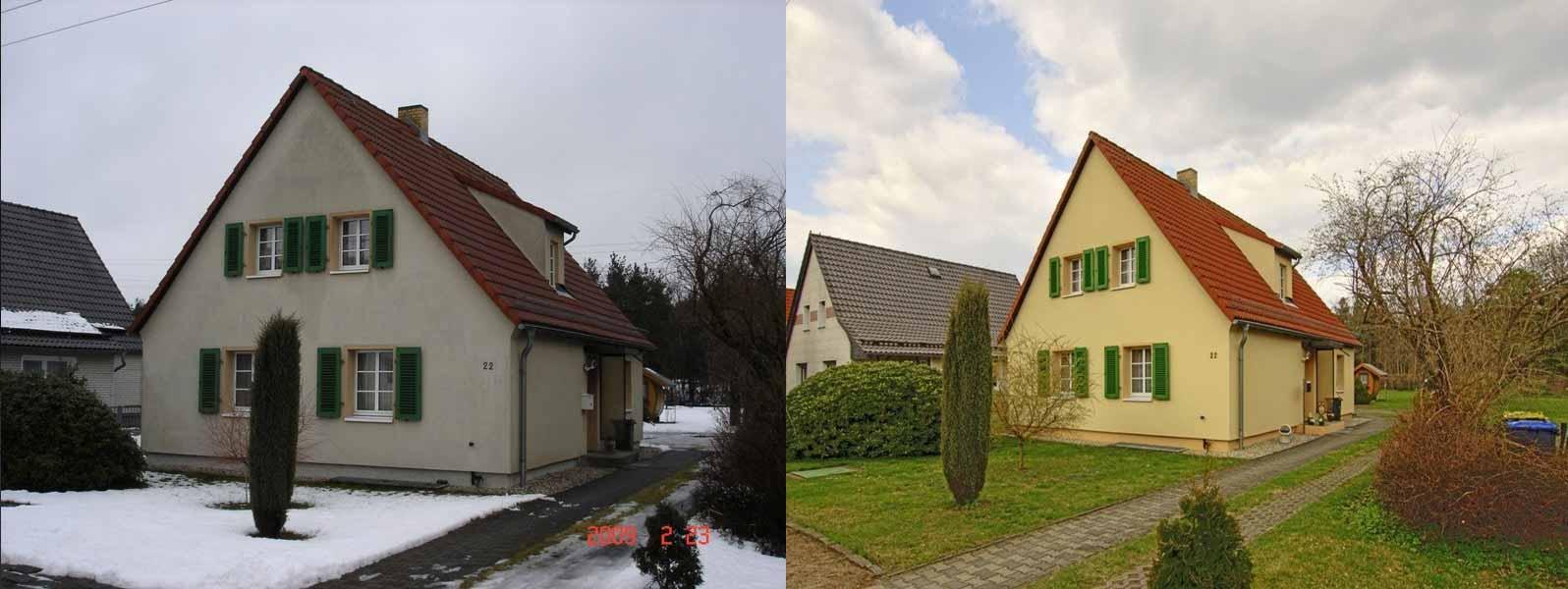 Vorher - Nachher - FIRA® Fassadenbeschichtung